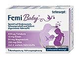 tetesept Femi Baby - 16 Nährstoffe für Kinderwunsch, Schwangerschaft & Stillzeit - Vitamine & Mineralstoffe wie Folsäure, Eisen, Magnesium, Jod + DHA - 1 x Monatspackung à 30 Tabletten + 30 Kapseln