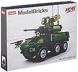 Sluban SL95613, Spähpanzer III (384 Teile) [M38-B0753], Spielset , Klemmbausteine, Soldaten, mit Spielfigur, Army