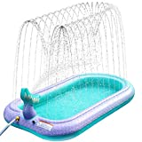 Sprinkler Pad Splash Spielmatte, Kinder Sprinkler Pool Pad Wasser Spielzeug für Kinder im Freien Sommer Garten Aufblasbares Wasserspielmatte Play Matte für über Jungen Mädchen Hund, 67 '/ 170cm