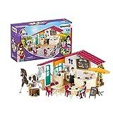 Schleich 42519 Horse Club Spielset - Reiter-Café, Spielzeug ab 5 Jahren