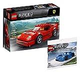 Lego Speed Champions Set - Automodell Ferrari F40 Competizione 75890 + McLaren Elva 30343 (Polybag)