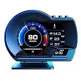 4' HUD OBD2-Anzeige Head-Up-Anzeige GPS 2-Systeme HUD OBD2-Anzeige Auto-ECU Drehzahl Tachometer Kilometerzähler Turbo- /Turbinendruck Öl- /Wassertemperatur Kompasszeit Höhe Höhe Fehlercode Reinigen