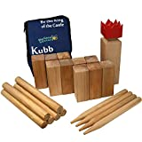 Wikingerschach- Kubb Premium-Qualität Bucheholz Spiel in einer Tasche - Garden Games 531