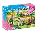 PLAYMOBIL Country 70608 Geschenkset 'Bäuerin mit Weidetieren', Ab 4 Jahren