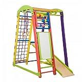 Kinder Aktivitätsspielzeug'JuniorColor-Plus' Kletterturm mit Rutsche Spielcenter Spielplatz