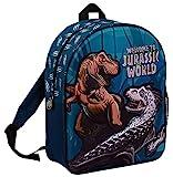 Jurassic World Rucksack für Jungen, T-Rex Dinosaurier, Rucksack für Kinder, Schulrucksack, blau, Einheitsgröße, Rucksack