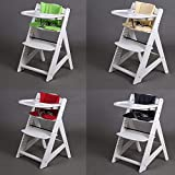 Hochstuhl Treppenhochstuhl Babyhochstuhl Kinderhochstuhl Kindertreppenhochstuhl Babystuhl 65220 (Weiss-Salbei Grün)