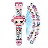 Armbanduhr LOL Surprise Projektor 20 Figuren Puppe LOL, Elektronische Uhr Kinder Mädchen L.O.L, Projektion Spielzeug