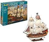 Revell Revell_05605 Modellbausatz Schiff 1:72 - Piratenschiff im Maßstab 1:72, Level 5, originalgetreue Nachbildung mit vielen Details, Segelschiff, 05605