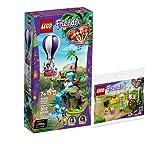 Collectix Lego Set - Friends Tiger-Rettung mit Heißluftballon 41423 + Friends Blumenwagen 30413 (Polybag)