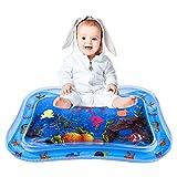 Gotem Wassermatte Baby, Baby Spielzeug ab 0 3 6 9 Monaten, Aufblasbare Wasserspielmatte BPA-frei, Bauchzeit Matte und Spielmatte für Säuglinge Kleinkinder zur Sensorischen Entwicklung (65 x 50 cm)