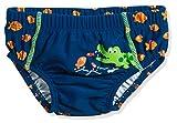 Playshoes UV-Schutz Windelhose Krokodil Schwimmwindel, Blau (Marine 11), 74/80
