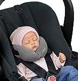 SANDINI SleepFix® Baby – Schlafkissen/Nackenkissen mit Stützfunktion – Kindersitz-Zubehör für Auto/Fahrrad/Reise – Kopfstütze/Sitzverkleinerung/Verhindert das Abkippen des Kopfes im Schlaf