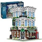 KEAYO Bausteine Haus, 3678 Teile Modular Bar Modellbausatz, 3-Etagen Architektur Klemmbausteine Gebäude Modell Kompatibel mit Lego Haus