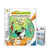 tip toi Ravensburger tiptoi ® Buch | Merken und Konzentrieren - Mein Lern-Spiel-Abenteuer + ABC Buchstaben Lernen - Poster mit Tieren,, Schule, Zahlen