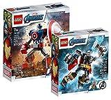 Collectix Lego Set - Marvel Avengers Captain America Mech 76168 + Marvel Avengers Thor Mech 76169, Das perfekte Geschenkset für Kinder ab 7 Jahren!