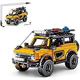 FYHCY Engineering-Geländewagen für Ford Bronco, 931 Teile, Offroad-Pullback-Automodellbauklötze, Konstruktionsspielzeug, kompatibel mit Lego-Technologie