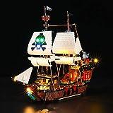 LED-Beleuchtungsset für Piratenschiff – kompatibel mit Lego 31109 Baustein-Modell – Lego-Set nicht enthalten