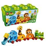 LEGO 10863 DUPLO Meine erste Steinebox mit Ziehtieren, Spielzeuge für Vorschulkinder im Alter von 1,5-3 Jahren
