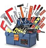GeyiieTOYS Werkzeugkoffer Spielzeug 31 in 1 Set Werkzeug Kinder Spielset Spielwerkzeug Geschenk ab 3 Jahre