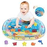 Lupanttes Wassermatte Baby, PVC Wasserspielmatte Baby, Spiel Wassermatte Flattern Macht Lustige Geräusche, Babyspielzeug 0+ Monate Junge und Mädchen, Baby Geschenk, Frühkindliche Erziehung für Kinder