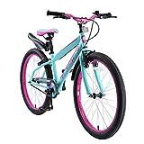 BIKESTAR Kinderfahrrad 24 Zoll für Mädchen und Jungen ab 9 Jahre | Kinderrad Urban Jungle | Fahrrad für Kinder Türkis & Berry | Risikofrei Testen