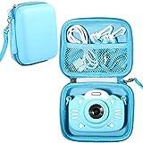 Kinder-Kameratasche, kompatibel mit Minibear Kinderkamera, Tasche für Kamera Kinder und Action-Kamera-Zubehör, 14 x 10,9 6,6 cm, stoßfeste Aufbewahrungsbox, passend die meisten Kinderkameras (blau)
