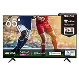 Hisense 65AE7000F 164 cm (65 Zoll) Fernseher (4K Ultra HD, HDR, Triple Tuner DVB-C/ S/ S2/ T/ T2, Smart-TV, Frameless, Bluetooth, Alexa, verstellbare Standfüße)