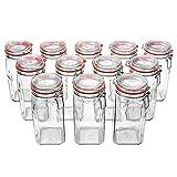 Flaschenbauer - 12 Drahtbügelgläser 1550ml verwendbar als Einmachglas, zu Aufbewahrung, Gläser zum Befüllen, Leere Gläser mit Drahtbügel - Made in Germany