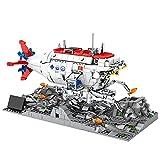 xSuper Technik U-Boot Bausteine Kit mit Beleuchtung und Bodenplatte, 1288 Teile Tiefsee-Tauchboot Bemanntes Schiff STEM Spielzeug modellbausatz, Kompatibel mit Lego Technics