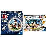 Ravensburger 3D Puzzle 11842 - Nachtlicht Puzzle-Ball Paw Patrol - 72 Teile - ab 6 Jahren & Ravensburger tiptoi Spiel 00069 Puzzle für kleine Entdecker:Paw Patrol - 2x24 Teile Kinderpuzzle ab 4 Jahren