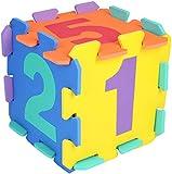 Bieco Puzzlematte, 20 tlg. | Spielmatte Baby | XXL Puzzle Kinder | Krabbeldecke Baby Spielmatte Kinder| Turnmatte Kinder | Kinder Teppiche | Krabbelmatte Baby | Buchstaben Lernen | Spielteppich jungen