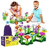 Limmys 105-Teile-Set 'Build My Dream Garden' – Mädchen Geschenke 3 Jahre + - Bausteine Kompatibel – Garten Spielzeug für Drinnen und Draußen