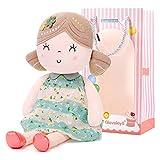 Gloveleya Plüschtier Gefüllte Puppen Stoffpuppe Geschenk Baby Mädchen Sicher zu Spielen - Weiche Puppe Mädchen 40CM (Grüne)