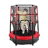 55 Inch Kinder Trampolin mit Protective Net Gartentrampolin 4.5ft Outdoor-Trampolin Junior Trampoline Set für Kinder Zur Unterhaltung und Fitness Verwendet Werden