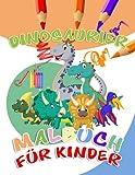 Dinosaurier Malbuch: Für Kinder von 4-8 Jahren, Prähistorische Dino Färbung für Jungen & Mädchen Mit Tyrannosaurus Rex, Triceratops, Mammut, Säbelzahntiger, Velociraptor Zum Ausmalen