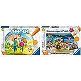 Ravensburger tiptoi Spiel 00074 Mein Wetter - Lernspiel von Ravensburger ab 3 Jahren & Ravensburger tiptoi Spiel 00069 Puzzle für kleine Entdecker: Paw Patrol - 2x24 Teile Kinderpuzzle ab 4 Jahren