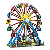PROTOY Mould King 11006 Riesenrad Bausteine Modell mit Musik & Licht - Riesenrad Freizeitpark Kompatibel mit Lego Creator - 3836 Teile