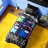Among Us Bettwäsche Kinder, Wendbares Kinder Bettwäsche Set mit Kissenbezug, Bettwäsche 200x200 und 137x198 (Einzel Bettdecke)