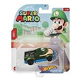 Hot Wheels Super Mario - GRM44 - Auto / Fahrzeug aus Metall 1/64 - Luigi
