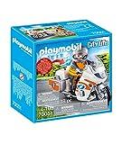 PLAYMOBIL City Life 70051 Notarzt-Motorrad mit Blinklicht, Ab 4 Jahren
