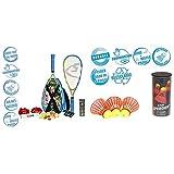 Speedminton® S700 Set – Original Speed Badminton/Crossminton Allround Set inkl. 5 Speeder®, Spielfeld, Tasche & Fun Speeder® - 3er Pack Speed Badminton/Crossminton Einsteiger- und Kinderball