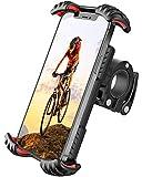 FLOVEME Motorrad Handyhalterung Fahrrad Handyhalter - Hüllenfreundlich Handy Halterung Fahrradlenker, Universal 360 Drehung Fahrradhalterung für 4,7 bis 7 Zoll Smartphone Rot