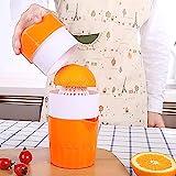 Manuelle Orangenpresse - Zitrone Obst Zitrus Limette Handpresse Entsafter [Cloud Drops] Manuelle Deckeldrehung, tragbare Entsafter Tasse, reiner Saft Extrakt aus Früchten, gesundes Getränk für Kinder