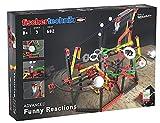 fischertechnik Funny Reactions - Kettenreaktionsspiele für Kinder ab 8 Jahren - 3 actionreiche Kettenreaktionen Sorgen für neuen Spielspaß in den Kinderzimmern - inklusive Katapult