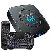 Android Tv Box 10.0, TV Box H616 4GB RAM 32GB ROM 2,4 G / 5,8 G Dualband WiFi mit Bluetooth 5.0 Konverter TV-Box Unterstützung 3D 4K 6K Ultra HD H.265 mit Mini-Tastatur Set