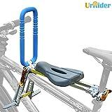 UrRider Kinderfahrradsitz,Vorneliegender Fahrradsitz für Kinder, Faltbarer und ultraleichter Baby-Kinderfahrradträger-Handlauf für Mountainbikes, Hybridbikes und Fitnessbikes