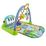 Fisher-Price BMH49 - Rainforest Piano Gym Baby Spieldecke mit Musik und Licht inkl. Spielzeug grün Babyausstattung ab Geburt [Exklusiv bei Amazon]