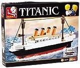 Sluban Klemmbausteine SlubanM38-B0576 SL95336, Kleiner Bausatz (194 Teile) [M38-B0576], Spielset, Klemmbausteine, Schifffahrt, mit Spielfigur, Titanic, bunt