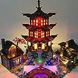 BLEN LED-Beleuchtungsset Kompatibel mit Lego 70751 Ninjago Tempel des Airjitzu LED-Beleuchtungsbausteine Gute Geschenke für Kinder (nur LED enthalten, kein Lego-Kit)